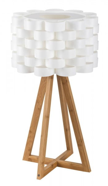 Tischlampe Holz weiß Andy L E14