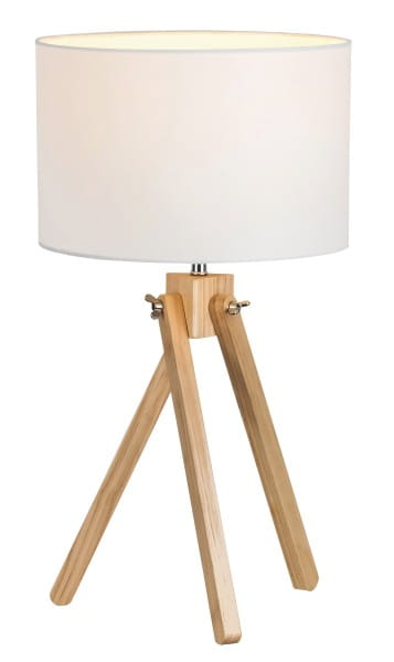 Tischlampe Holz weiß Soren E14