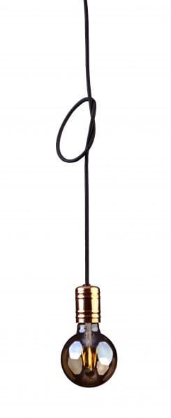 Pendelleuchte schwarz aus Metall CABLE E27