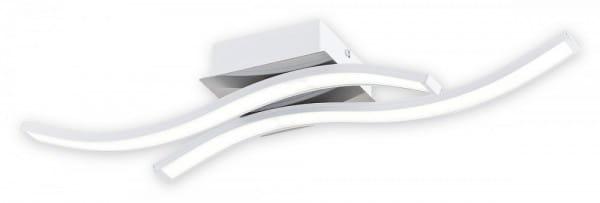 LED Deckenleuchte weiß/chrom 14,4W 2 flammig