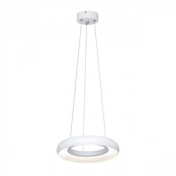 LED Pendelleuchte Ringe weiß 12W