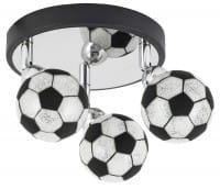 Kinderzimmerlampe Junge 3 flammig im Fussball-Design