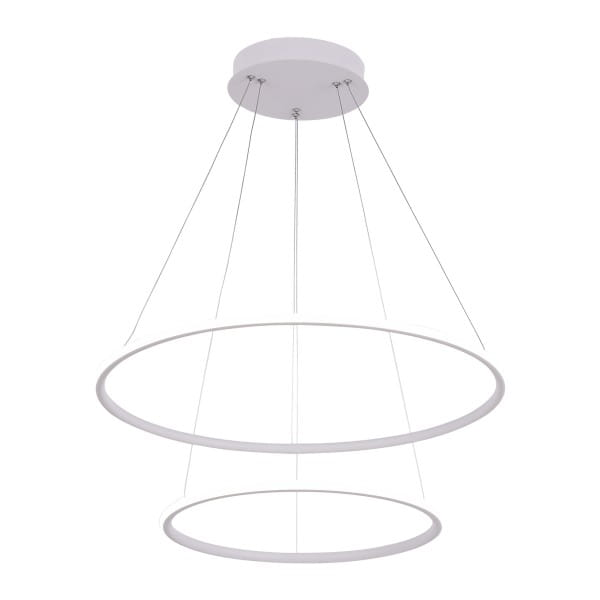 LED Pendelleuchte ORION WHITE EXTERNO Weiß 53W 3710lm