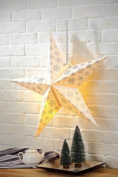 LED Dekoleuchte Stern Schneeflocken