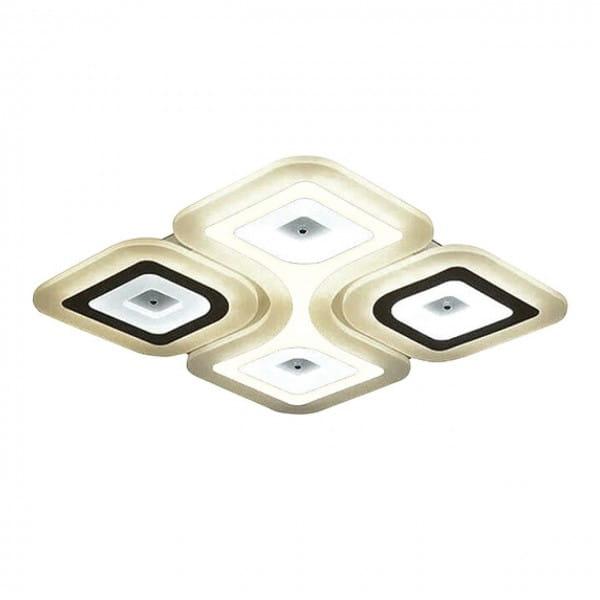 LED Deckenleuchte VOLTA Weiß/Schwarz 118W 9440lm