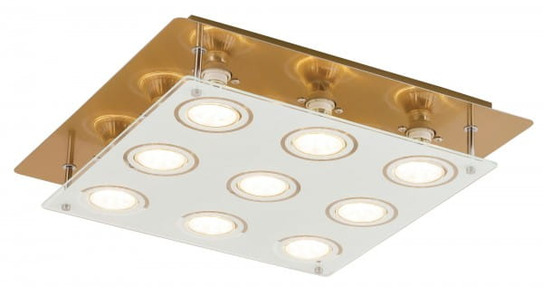 LED Deckenleuchte 5W 9 flammig bronze warmweiß