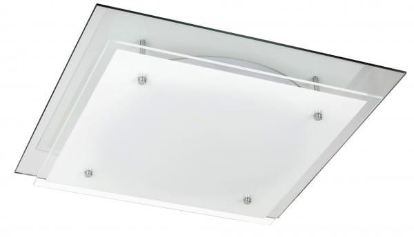 LED Deckenleuchte weiß 24W Janice Metall/Glas 4000K naturalweiß 1920lm