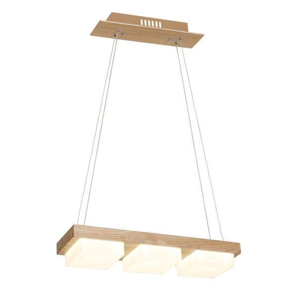 LED Pendelleuchte OSLO Holz/Weiß 36W 2520lm