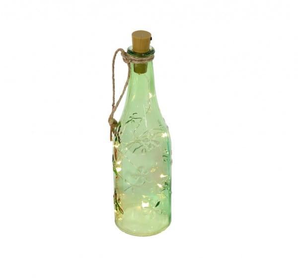 LED-Lichterkette Weinflasche grün