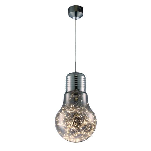 LED Pendelleuchte BULB Chrom 13W 780lm