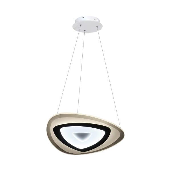 LED Pendelleuchte VOLTA Weiß/Schwarz 38W 3040lm