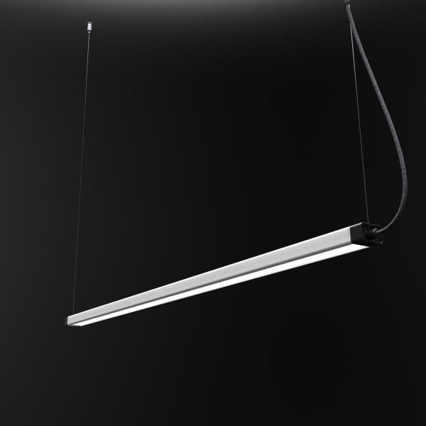 H LED Pendelleuchte Weiß/Schwarz