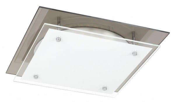 LED Deckenleuchte weiß 18W Janice Metall/Glas 3000K warmweiß 1440lm