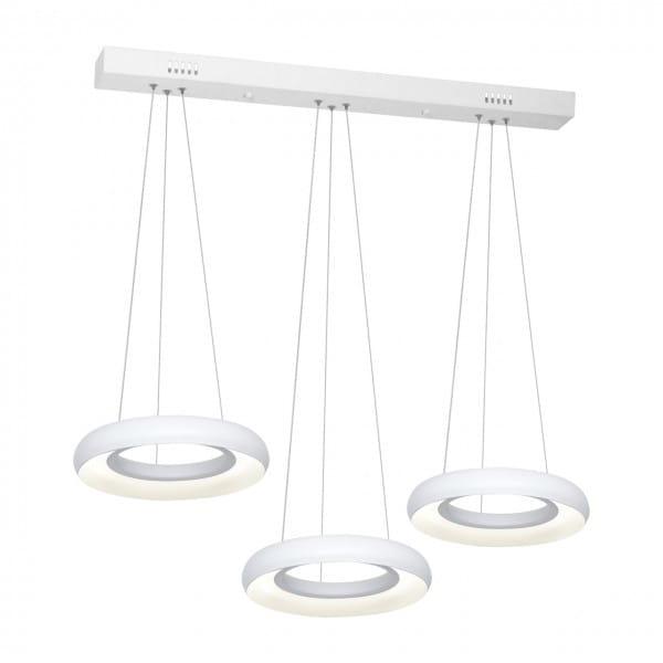 LED Pendelleuchte Ringe weiß 36W