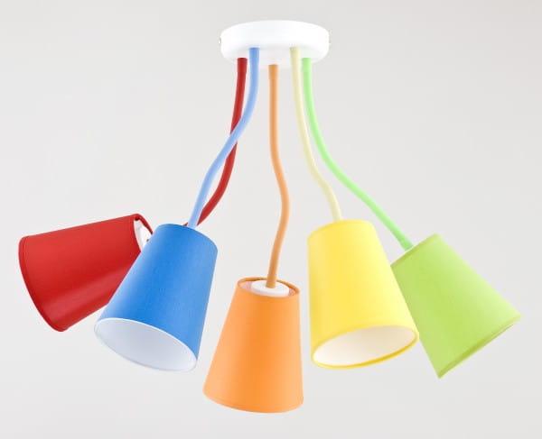 Kinderzimmerlampe Wire Colour 5-flammig