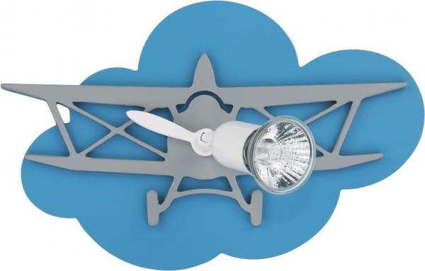 Kinderzimmerlampe Junge blau im Flugzeug-Design