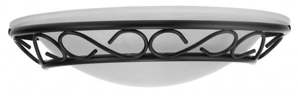 Wandleuchte schwarz aus Glas Athen E14