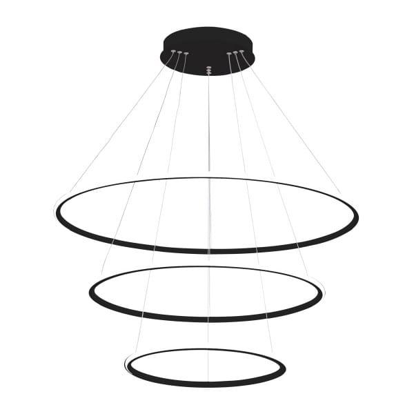 LED Pendelleuchte ORION BLACK EXTERNO Schwarz 99W 6930lm