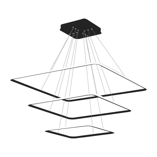 LED Pendelleuchte NIX BLACK EXTERNO Schwarz 117W 8190lm