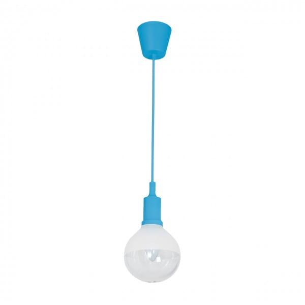 LED Pendelleuchte BUBBLE BLUE Blau 5W 350lm