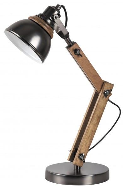Tischlampe Holz schwarz Aksel E14