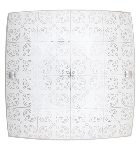 LED Deckenleuchte FLEUR weiß aus Metall/Glas quadratisch