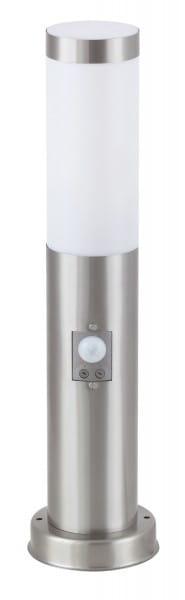 Wegeleuchte santin-chromfarben E27 25 W IP44 Bewegungssensor Inox torch