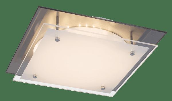 LED Deckenleuchte weiß 18W Jamie Metall/Glas 3000K warmweiß 1440lm