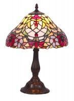 Tischlampe antik Glas bronze E27 Mirella