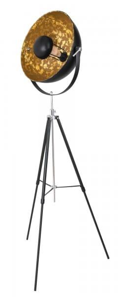 Stehlampe schwarz Dreibein Metall E27
