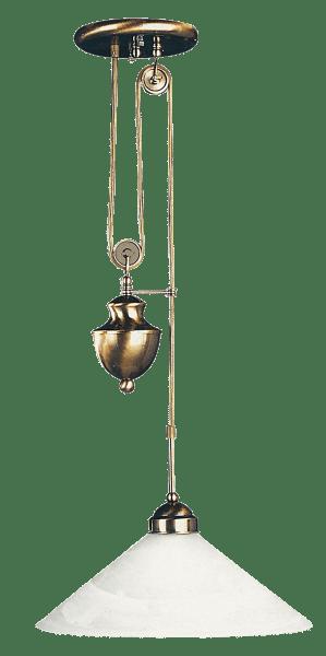 Pendelleuchte aus Glas bronze und weiß 1 flammig E27 Marian