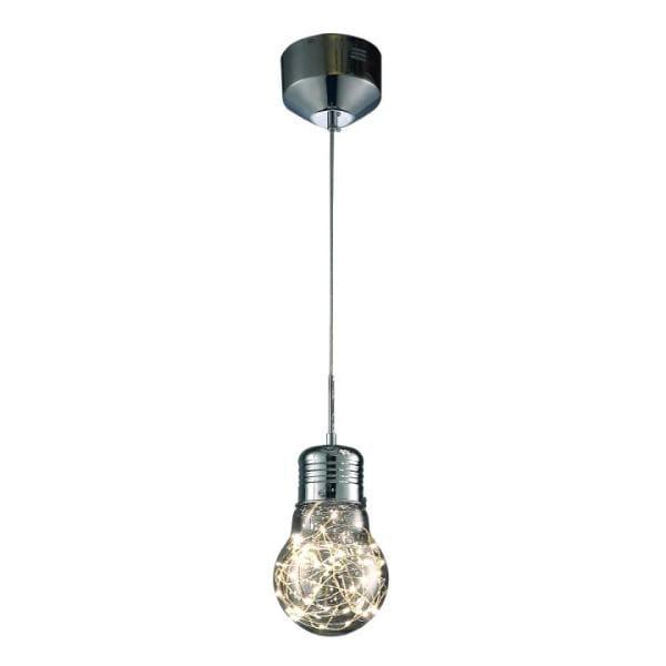 LED Pendelleuchte BULB Chrom 5W 300lm