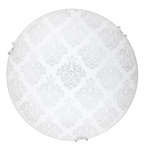 LED Deckenleuchte FLEUR weiß aus Metall/Glas rund