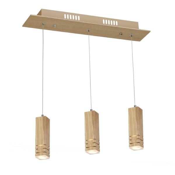 LED Pendelleuchte BERGEN Holz 15W 1050lm