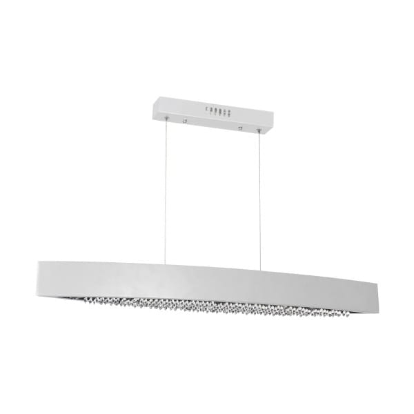 LED Pendleuchte BOCCA chrom aus Metall/Kristallen