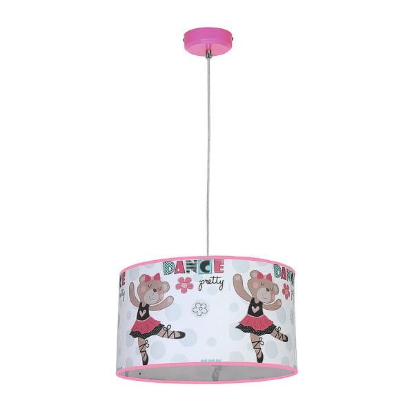 Kinderzimmerlampe BAMBINO bunt aus Metall/PVC Ballerina