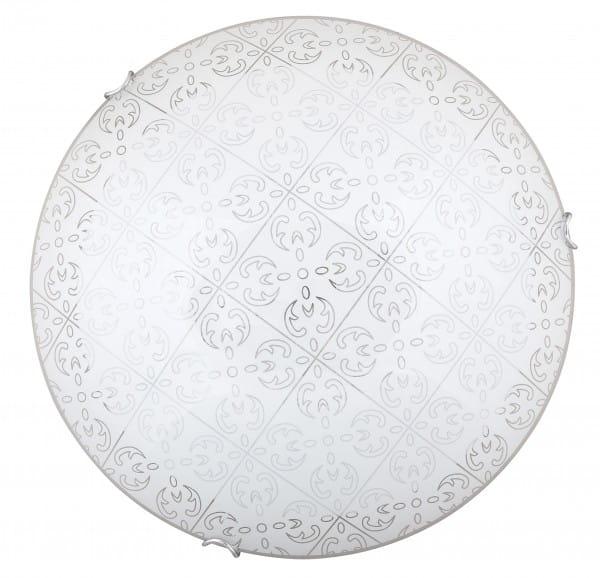 LED Deckenleuchte weiß 18W Haley Metall/Glas 3000K warmweiß