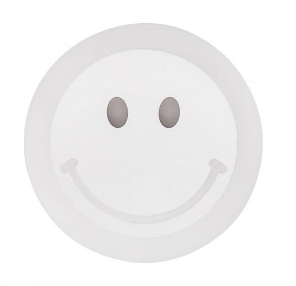 Kinderzimmerlampe LED Smiley weiß