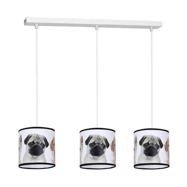 Pendelleuchte 3-flammig Hundemuster DOGS