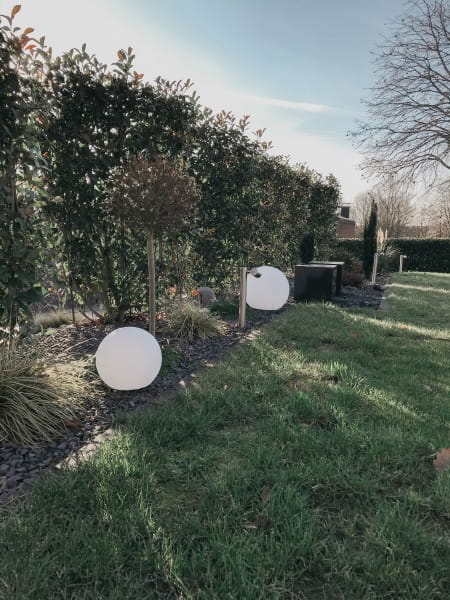Kugelleuchte Garten Weiß Cumulus E27 Ø 30 cm