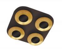 LED Deckenleuchte 5W 4 flammig braun/gold warmweiß