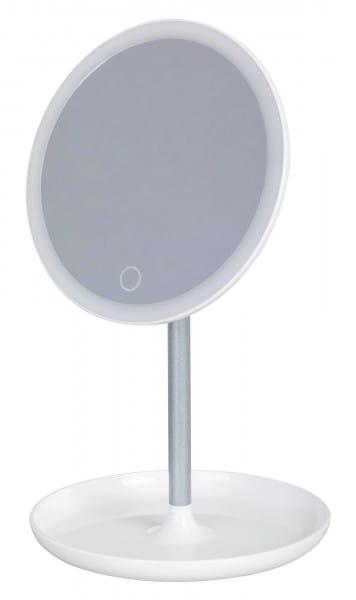 LED Schminkspiegel weiß rund