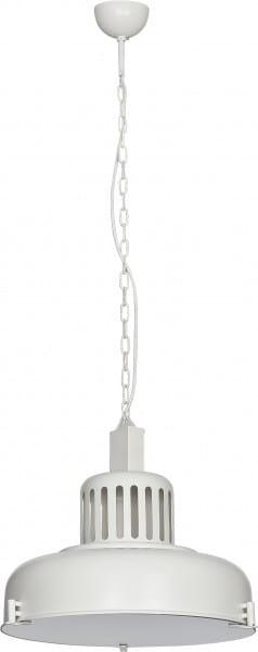 INDUSTRIAL Pendelleuchte Industriedesign Metall/Glas weiß Hängelampe Pendellampe Deckenlampe E27 60W