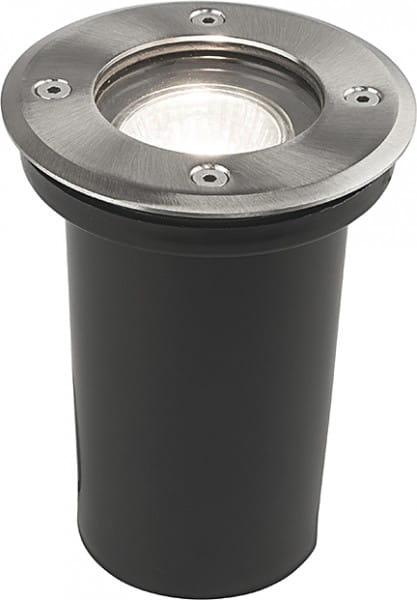 PAOLI Außeneinbauleuchte modern Edelstahl/Glas edelstahl Einbaustrahler Außenlampe GU10 35W