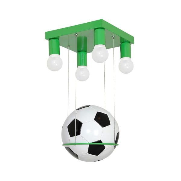 Kinderzimmerlampe FOOTBALL grün aus Metall/künstliches Material