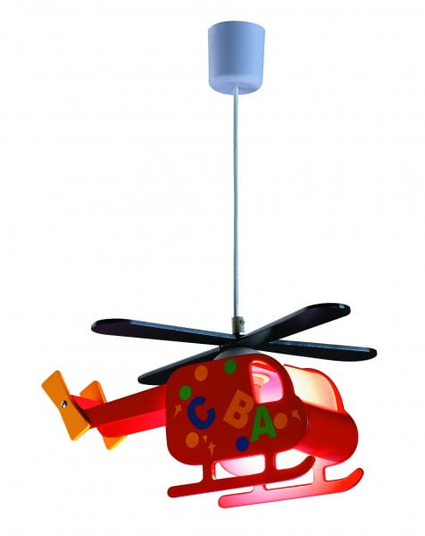 Kinderzimmerlampe Junge bunt im Helicopter-Design
