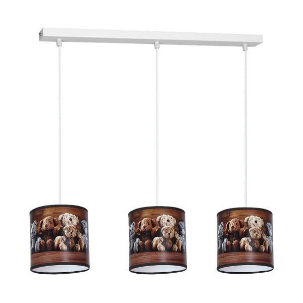 Kinderzimmerlampe TEDDY BEAR aus Metall/PVC Pendelleuchte