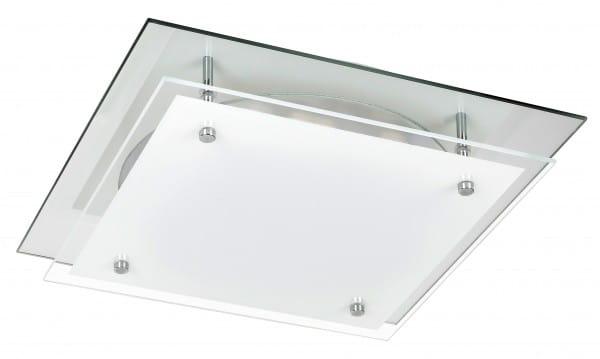 LED Deckenleuchte weiß 18W Janice Metall/Glas 4000K naturalweiß 1440lm