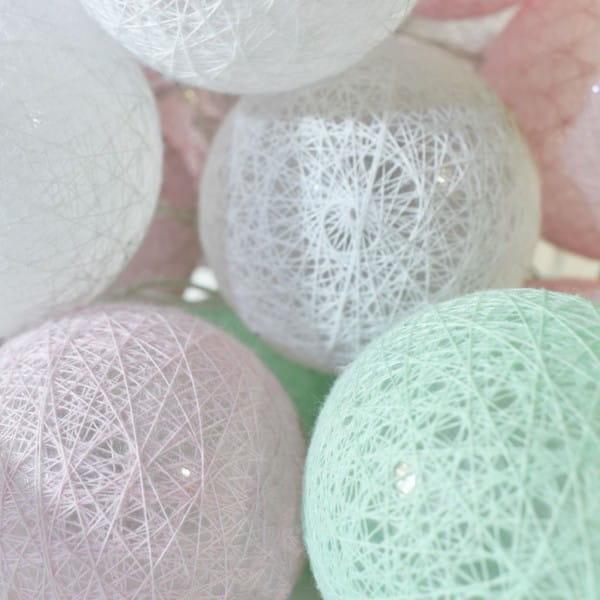 Lichterkette bunt 30L Cotton Balls