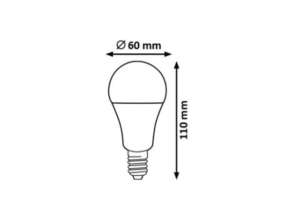 LED Leuchtmittel Helligkeitsstufen 7W warmweiß